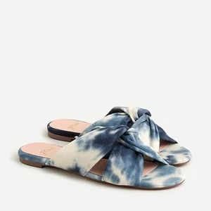 J Crew Twisted Knot Sandals in Tie-Dyed Canvas
